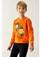 DeFacto Erkek Çocuk Kral Şakir Lisanslı Sweatshirt Oranj